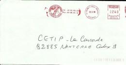 Lettre Entiere  EMA  Varennes Voyages Le Monde Evasion  91  B/573 - Ferien & Tourismus