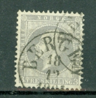 Norge 1856  Yv  3  Facit  3  Used / Obl / Gebr  Bergen - Norvège