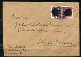 3991 - SBZ-Sächsische Schwärzungen-OPD Chemnitz - Mi.Nr. AP 785aI (2) - MeF Auf Brief Von Zwickau Nach Chemnitz - Zone Soviétique