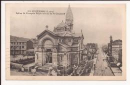 Saint Etienne : Rue St Chamond Et Eglise - Saint Etienne