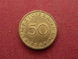 SARRE Monnaie De 50 Franken 1954 Superbe état - Sarre (1954-1955)