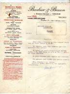 Barbier & Besson  - Toulouse  - Courrier  Sujet : Moteur - Timbres