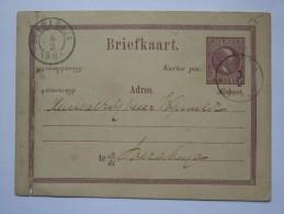 NETHERLANDS INDIES 1885 STATIONARY CARD SOERABAJA / SURABAYA POSTMARK - Indie Olandesi