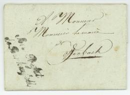 """DEPARTEMENT CONQUIS DE LA SARRE - Franchise """"Sous-Préfet De Birkenfeld"""" - Birkenfeld 1812 - Offenbach - Napoleon - Postmark Collection (Covers)"""
