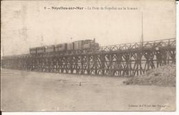 585. CPA 80 NOYELLES SUR MER. LE PONT DE NOYELLES SUR LA SOMME. TRAIN - Noyelles-sur-Mer