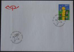 FÄRÖER 2000 MI-NR. 374 FDC (159) - Féroé (Iles)
