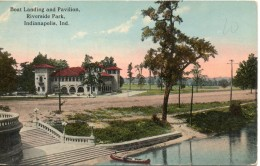 Etats Unis. Boat Landing And Pavillon. Riverside Park. Indianapolis - Indianapolis