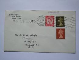 GB 1969 COVER PAQUEBOT CACHET SENT ABOARD R.S. CYCLOPS - Briefe U. Dokumente