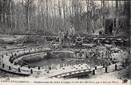 CARTE POSTALE ORIGINALE ANCIENNE : CREPY EN LAONNOIS ; CANON LONGUE PORTE DIT BERTHA ; PARIS ; ANIMEE ; AISNE (02) - Weltkrieg 1914-18