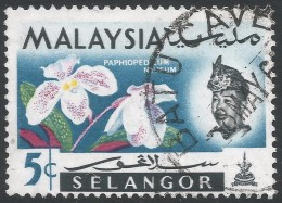 Selangor(Malaysia). 1965 Orchids. 5c Used. SG 138 - Malaysia (1964-...)