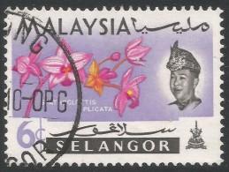 Selangor(Malaysia). 1965 Orchids. 6c Used. SG 139 - Malaysia (1964-...)