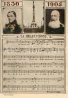 Royalty / Belgique / België / 75ème Anniversaire Indépendance / Brabançonne / 1830-1905 / Roi Leopold I / Leopold II - Patriottisch
