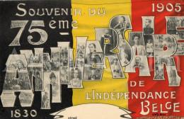 Royalty / Belgique / België / 75ème Anniversaire Indépendance Belge / 1830 - 1905 / Roi Leopold I / Leopold II - Patriottisch