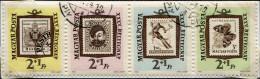 (cl.38 - P.22) Hongrie Ob N° 1526 à 1529 Se Tenant - Papillon, Ski, Personnages - - Butterflies