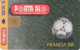 ECUADOR - Francia 98, Calendar 1998, Chip GEM1.2, Used - Ecuador