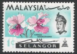 Selangor(Malaysia). 1965 Orchids. 1c MH. SG 136 - Malaysia (1964-...)