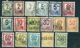 Colis Postaux 1944/47 17 Timbres Entre N° 1 ET 24  Oblitérés Cote 34€ - Colis Postaux