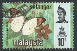 Selangor(Malaysia). 1971 Butterflies. 10c Used. SG 150 - Malaysia (1964-...)