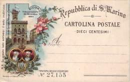 Ripublica Di S. Marino - Ricordo Inaugurazione Settiembre 1894, Palazzo Del Consiglio Principe E Sovrano - Saint-Marin