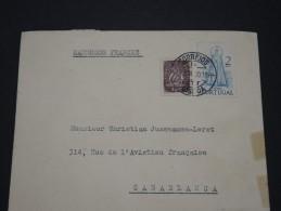 PORTUGAL - Env Pour Casablanca Maroc - 1950 - A Voir - P17874 - Marcophilie