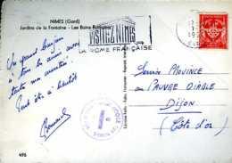 Franchise Militaire Avec Tampon De La Base Aérienne école 726 De Nîmes (30) - Franchise Militaire (timbres)
