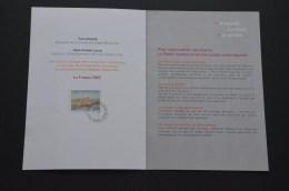 Antibes Encart Souvenir Inauguration Bureau De Poste 2007 (2scan) - France