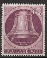 Berlin 1951 Freiheitsglocke. Freedom Bell. Klöppel Nach Links. Mi.79 MNH/**/Postfrisch - [5] Berlin