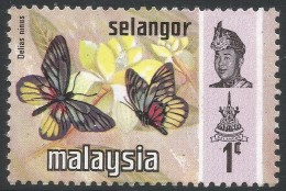 Selangor(Malaysia). 1971 Butterflies. 1c MH. SG 146 - Malaysia (1964-...)