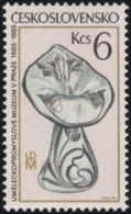Czechoslovakia / Stamps (1985) 2723: Museum Of Decorative Arts In Prague (vase With Plastic Décor) Painter Bedrich Housa - Vetri & Vetrate