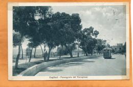 Cagliari Tram 1920 Postcard - Cagliari