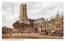 [DC2811] CPA - BELGIO - CATHEDRALE DE MALINES EN 1833 - Viaggiata 1917 - Old Postcard - Malines