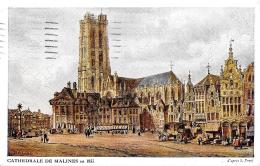 [DC2811] CPA - BELGIO - CATHEDRALE DE MALINES EN 1833 - Viaggiata 1917 - Old Postcard - Mechelen