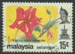 Selangor(Malaysia). 1979 Flowers. 15c Used. SG 162 - Malaysia (1964-...)