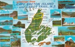 Canada Greetings From Cape Breton Island And Cabot Trail Nova Scotia - Cape Breton