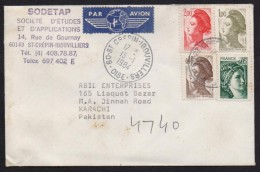 FRANCE - Postal History Cover Used 13.1.1984 From OISE - Storia Postale