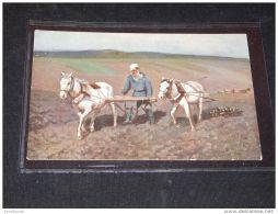 Paintings Russia I.E.Repine L.N. Tolstoi Au Champs__(3798) - Peintures & Tableaux
