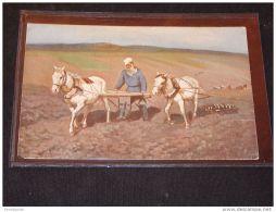 Paintings Russia I.E.Repine L.N. Tolstoi Au Champs__(3799) - Peintures & Tableaux