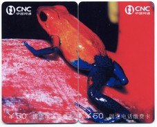 Puzzle Grenouille Frog  Frosch Rana 2 Télécartes Phonecard P09 - Puzzles