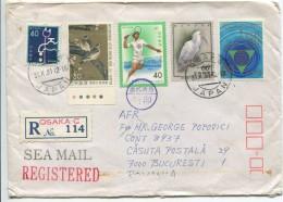 Registered Letter Japan-Romania - Japan