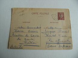 Lettre 2 Zones Depart Dakar Petain 80 C  Cachet Franchise Postale Guerre  39.45 - WW II