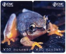 Puzzle Grenouille Frog  Frosch Rana 2 Télécartes Phonecard P14 - Puzzles