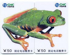 Puzzle Grenouille Frog  Frosch Rana 2 Télécartes Phonecard P15 - Puzzles