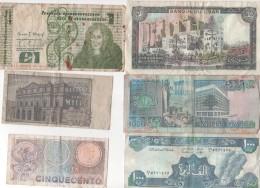 LOT DE 8 BILLETS  étrangers Divers -  Dans Leur Jus ( Voir Scan ) - Monnaies & Billets