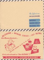 131 BUVARD Lot De 2 Buvards PRODUITS JACQUEMAIRE   21 X 13.5 CM - Food