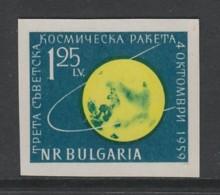 TIMBRE NEUF DE BULGARIE - LUNIK III OU LUNA 3, SONDE SOVIETIQUE N° Y&T 1005a - Space