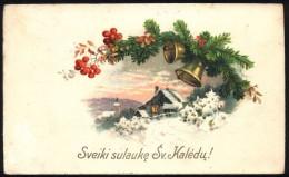 1927 LIETUVA Sveiki Sulauke Sv.Kaledu ! - Lithuania