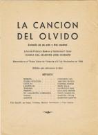 17906. Programa Zazuela 1 Acto, Maestro SERRANO. La Cancion Del Olvido 1958 - Programas