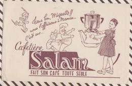 134 BUVARD CAFETIERE SALAM 21 X 13.5 CM - Coffee & Tea