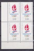 N° 2632 Alberville 92 Jeux Olympique D´Hiver: Logo Des Jeux:  Bloc De 4 Timbres Neuf - France