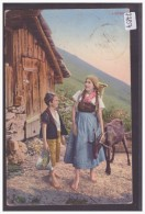 AU CHALET DANS LES ALPES - TB - Suisse